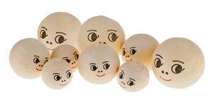 Wattenbollen met gezicht, 3 groottes, 9 stuks