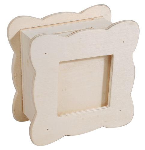 Holz Spardose Bilderrahmen Natur 10 X 10 X 5 Cm Opitec