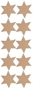 Holz Sterne, 10 Stück natur ohne Deko (16,5 cm)