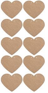 Holz Herz, 10 Stück natur  (160 x 135 x 3 mm)