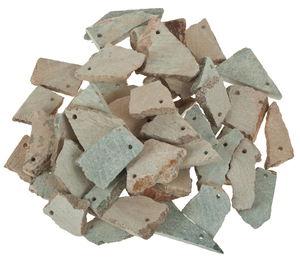 Trozos de esteatita para amuletos, 50 ud.