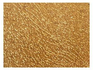 Crackle Mosaikplatte, gold (4 x 150 x 200 mm)