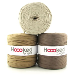 HOOOKED Zpagetti, 1 gomitolo, camel beige shades