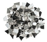 Scherven mozaïek mini, zwart/grijs/wit mix, 200g