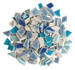 Scherben-Mosaik Mini, 200 g blau-mix
