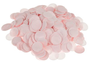 Confetti van papier, ø 2 cm, roze, 25 g
