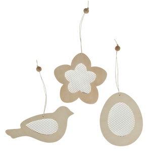 Houten hangers - Pasen (11-14,5 cm) 3 stuks