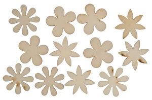 Formes en bois -Fleur-, Diam. 40 mm, ...,