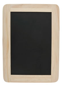 Tafel mit Holzrahmen (18 x 25 cm)