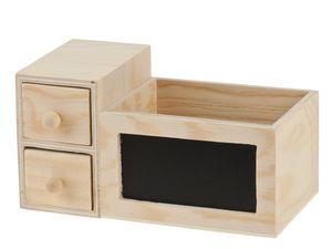 Caja para lápices de madera (150 x 80 x 80 mm)