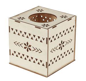 Boîte en bois pour linges cosmétiques,