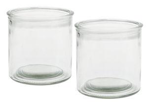 Dekogläser, 2 Stück rund (100 x 100 mm)