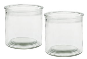 Decoratieve glazen (100 x 100 mm) 2 stuks