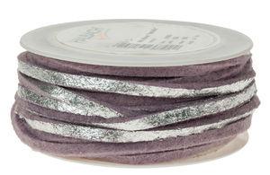 Vilten lint (5 m x 4 mm) pastel/violet