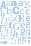 Schablonen Mask Stencil, 3 Stück Alphabet (DIN A3)