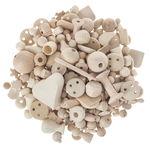 Holz-Bastelteile roh, 1 kg Beutel