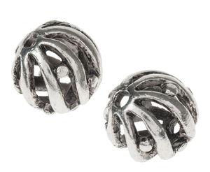 Perles filigrane en métal -Bille-, Di...,