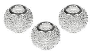 Metall-Netzperlen, 3 Stück silber (12 mm)