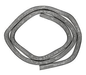 Cordón de malla, negro, 1 m (8 mm)