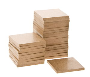 Houten vierkant (5 x 60 x 60 mm) 30 stuks