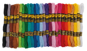 Borduurgaren set, 52 strengen á 8 m, 26 kleuren