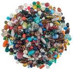 Perles assorties en verre, Diverses f...,