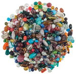 Glazen kralen assortiment, bont, 9 - 30 mm, 1 kg