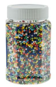 Glasperlen Opak, 500 g Buntmix