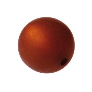 Perle Polaris -Bille-, Diam. 8 mm, trou: ..., brun