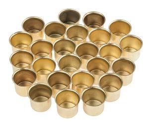Metallo - portacandela, inserto di ottone 25 pezzi