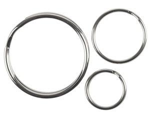 Sleutelringen, 30 stuks (15-30 mm)