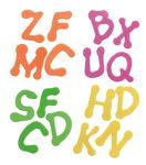 Foam letters, 400 stuks in 4 kleuren