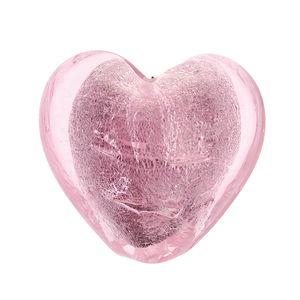 Glasherz Silbereinzug, rosa        (20 mm)