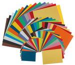 Papier in verschillende kleuren/formaten, 195 vel
