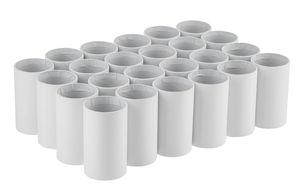 Kokers (6 x 10 cm) wit karton, 24 stuks