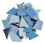 Mosaik Fliesen-Scherben, 1,7 kg blau-mix