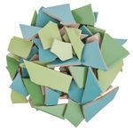 Mosaik Fliesen-Scherben, 1,7 kg grün-mix
