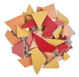 Mosaik Fliesen-Scherben, 1,7 kg gelb/orange/rotmix