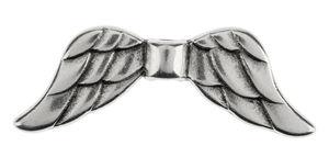 Perle en métal -Ailes- , Dim. 40 x 10 m...,