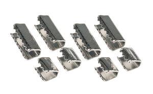 Metallkappen, 8er-Set (5 x 4 mm/10 x 4 mm)