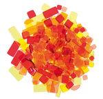 Luzy acryl mozaïek (100 g) geel/roodtinten