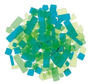 Luzy acryl mozaïek (100 g) groentinten