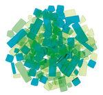 Mosaik Luzy Acryl, 100 g grün-mix
