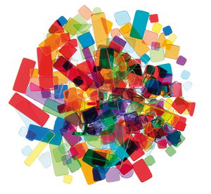 Luzy acryl mozaïek (100 g) kleurrijk