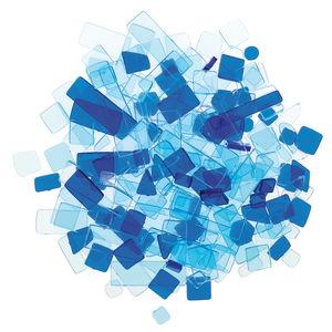 Luzy acryl mozaïek (100 g) blauwtinten