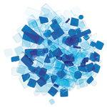 Mosaik Luzy Acryl, 100 g blau-mix