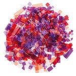 Luzy acryl-mozaïek (100 g) paars/roodtinten