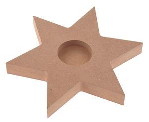 Holz Teelichthalter Stern natur (165mm)