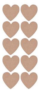 Holz Herz, 10 Stück natur (13 x 13 cm)