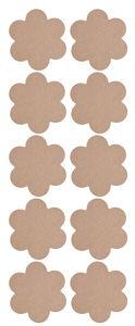 Holz Blumen, 10er Pack natur (140 x 140 x 2 mm)